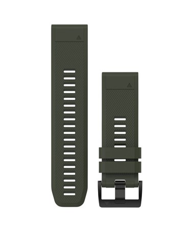 QuickFit 26 Watch Bands For Garmin GPS Watch Moss Green Silicone 010-12517-03