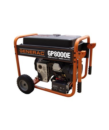 Generac GP8000E Portable Generator Electric Start