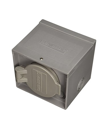 Generac 50-Amp Raintight Resin Power Inlet Box, CS6365 with Spring-Loaded Flip-Lid GEN6341