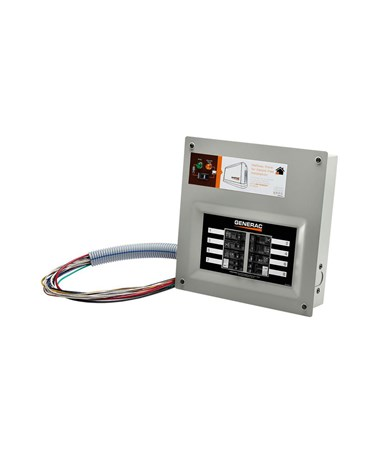 Generac HomeLink Upgradeable Pre-wired Manual Transfer Switch, 50 Amps and 10 - 16 Circuit GEN9854