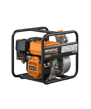 "Generac CW20 Clean Water Pump, 158 gal/min, 2"" Suction Port 6821"