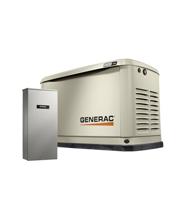 Generac 9/8kW Air-Cooled Standby Generator with 100 amp Transfer Switch 7030