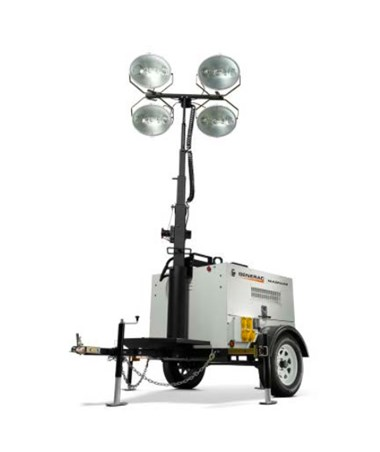 Generac MLT4150 Mobile Light Tower w/ Vertical (25') Mast & Electric Winch