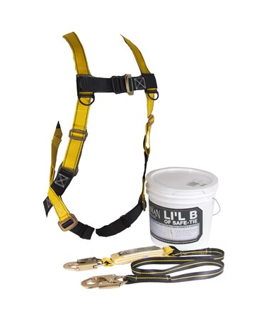 Guardian Fall Protection Little Bucket of Safe-Tie Safety Kit GUA00870-