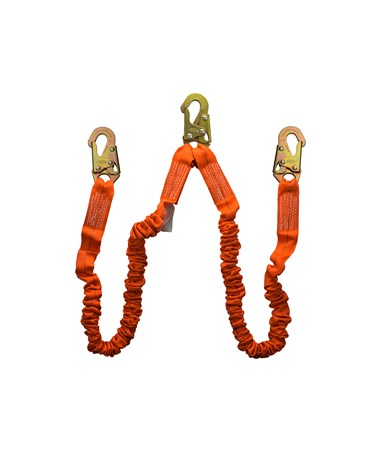 Guardian Fall Protection Bungee Style Shock Absorbing Stretch Lanyard 01296