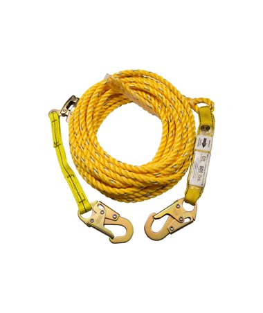 Guardian Fall Protection Poly Steel Rope Vertical Lifeline Assembly GUA01310-