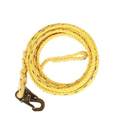 Guardian Fall Protection Poly Steel Rope with Snap Hook End GUA01330-