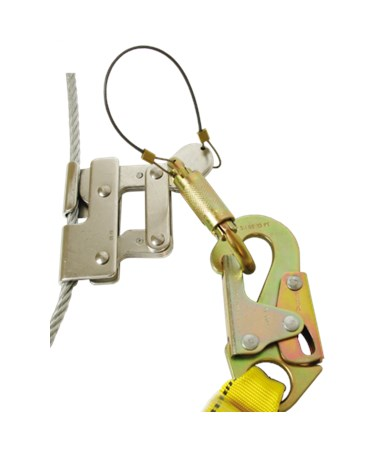 Guardian Fall Protection Quick Connect Cable Grab GUA01512 with carabiner and snap hook