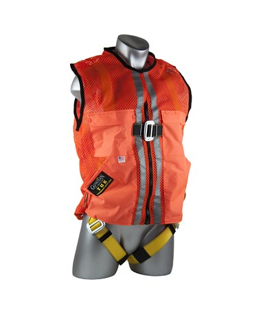 Guardian Fall Protection Construction Tux Harness Orange Mesh