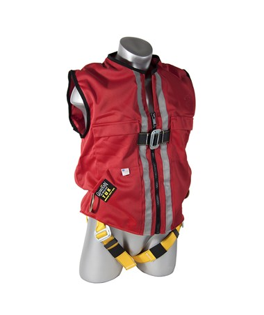 Guardian Fall Protection Construction Tux Harness Red Mesh