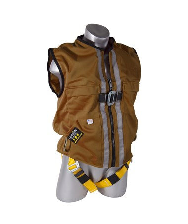 Guardian Fall Protection Construction Tux Harness Brown Duck