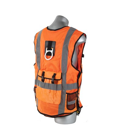 Guardian Fall Protection Deluxe Construction Tux Harness GUA02150- back