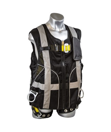 Guardian Fall Protection Deluxe Construction Tux Harness Black Mesh