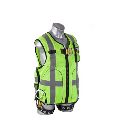 Guardian Fall Protection Deluxe Construction Tux Harness Green Mesh