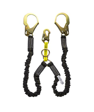 Guardian Fall Protection Bungee Style Shock Absorbing With Black Tube Stretch Lanyard 11212
