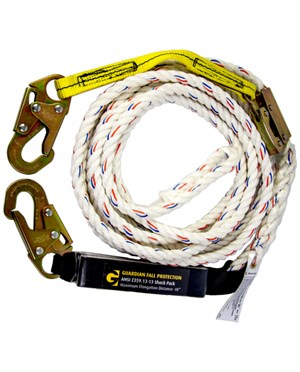 Guardian Fall Protection Polydac Rope Vertical Lifeline Assembly GUA11321-