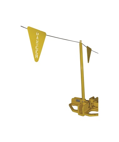 "Guardian Fall Protection Stamped ""Danger"" Steel Warning Line Flag"