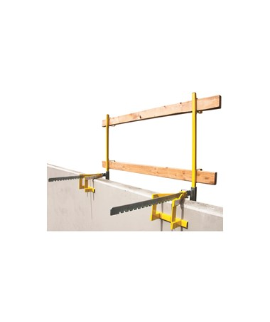 Guardian Fall Protection Parapet Clamp Guardrail System Set-up