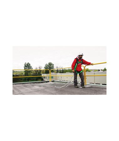 Guardian Fall Protection 12' Powder-Coated Safety Guardrail