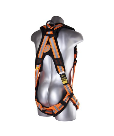 Guardian Fall Protection Reflective Cyclone Harness GUA21056- back