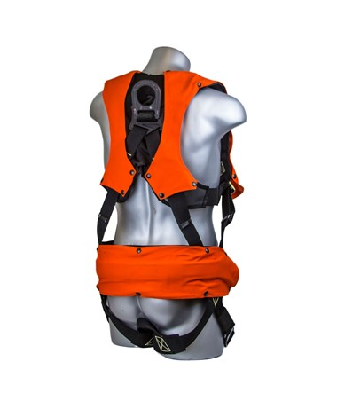 Guardian Fall Protection Flame Retardant Premium Edge Construction Harness GUA281080- back
