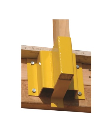 "Guardian Fall Protection Guardrail Receiver for 2"" x 4"" Boards"