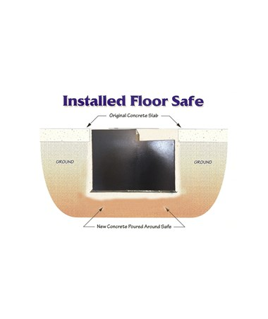 Hollon Floor Safe Installed Illustration