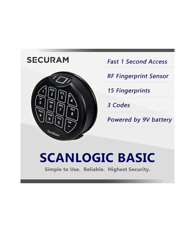 Hollon 20 x 15 B-Rated Cash Safe with Securam Biometric/Fingerprint E-Lock
