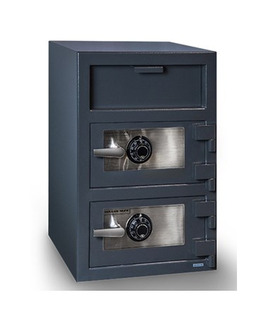 Hollon 30 x 20 B-Rated Double Door Depository Safe - 2 Dial Locks - FDD-3020CC