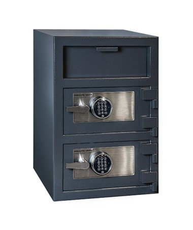 Hollon 30 x 20 B-Rated Double Door Depository Safe - 2 S&G Spartan Electronic Locks - FDD-3020EE