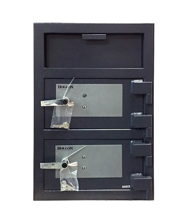 Hollon B-Rated Double Door Depository Safe with 2 Key Locks FDD-3020KK