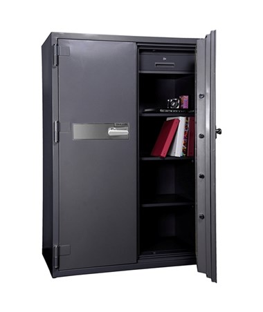 Hollon 2-Hour Fireproof Office Safe with Two Doors - Open