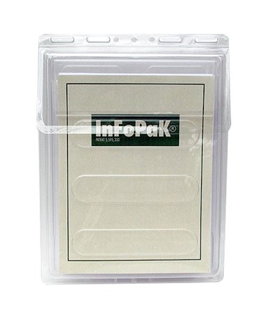 Infopak 10″W x 14″H x 1.25″D Outdoor Literature Holder with Lid For 8.5″W x 11″H Size Flyers/Brochures (Qty. 20) 3000