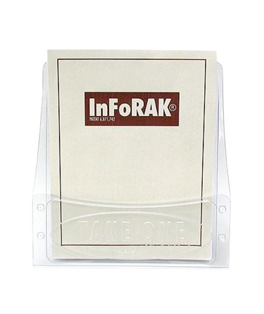 Infopak 9.5″W x 11″H x 4.5″D Inforak Tabletop Literature Holder For 8.5″W x 11″H size Flyers/Brochures (Qty. 20) 5000