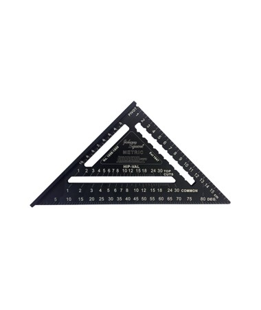 Johnson Level Metric Johnny Square Professional Easy-Read Aluminum Rafter Square JOH1956-1800
