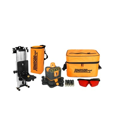 Johnson 40-6507 Manual-Leveling Rotary Laser with Multi-function Mount and Wall Mount JOH40-6507