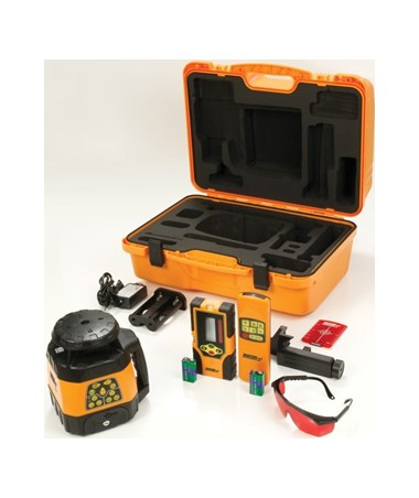Johnson 40-6529 Electronic Self-Leveling Rotary Laser with Laser Receiver and Remote Control JOH40-6529