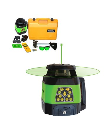 Johnson 40-6544 Green Beam Electronic Self-Leveling Rotary Laser JOH40-6544