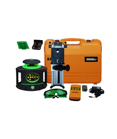 Johnson 40-6546 Green Beam Electronic Self-Leveling Rotary Laser Kit JOH40-6548