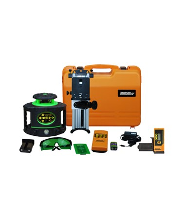 Johnson 40-6548 Green Beam Electronic Self-Leveling Rotary Laser Kit with Laser Receiver JOH40-6548