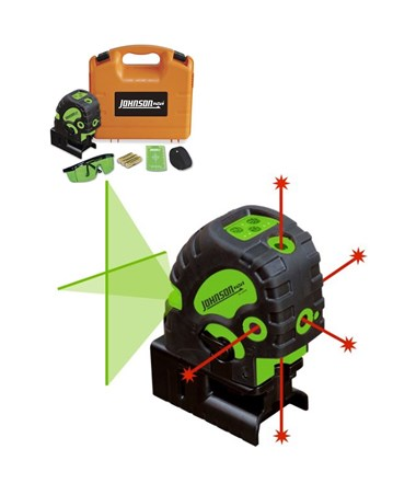 Johnson Green Cross-Line and Red 5-Dot Combination Self-Leveling Laser JOH40-6688