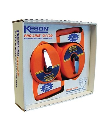 Keson 110 Feet Little Giant Chalk Line Reel; 12 Oz Capacity with 2 Boxes and 1 String KESG110D
