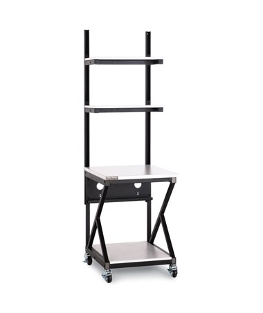 "Kendall Howard Performance 200 Series 24"" LAN Station w/ Full Bottom Shelf, Folkstone KNH5000-3-200-24"
