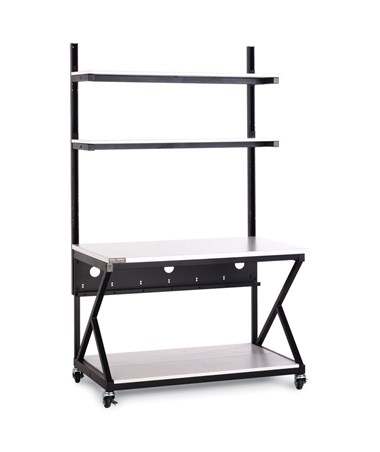 "Kendall Howard Performance 200 Series 48"" LAN Station w/ Full Bottom Shelf, Folkstone KNH5000-3-200-48"