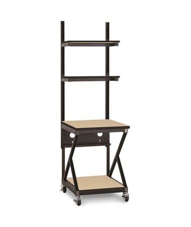 "Kendall Howard Performance 200 Series 24"" LAN Station w/ Full Bottom Shelf, Hard Rock Maple KNH5000-3-201-24"