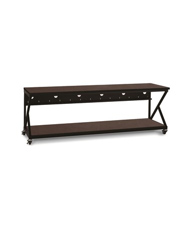 "Kendall Howard Performance 300 Series 96"" LAN Station, African Mahogany KNH5000-3-304-96"