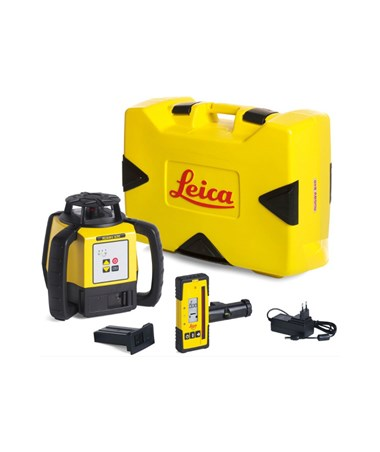 Leica Rugby 620 Rotary Laser Level with Rechargeable Package