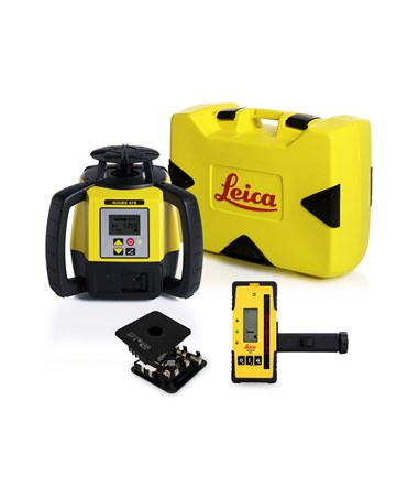 Leica Rugby 670 Single Grade Laser With Rod-Eye 120 and Alkaline Battery Pack 6011158