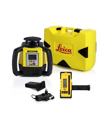 Leica Rugby 670 Single Grade Laser With Rod-Eye 120, Li-Ion Battery Pack and Charger 6011157