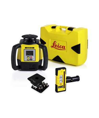 Leica Rugby 670 Single Grade Laser With Rod-Eye 140 and Alkaline Battery Pack 6006003